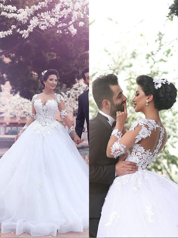 Vibrant Stylist Ball Gown Court Train Sweetheart Tulle Wedding Dresses