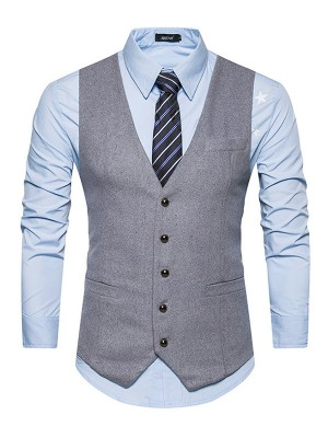 Formal Cotton Men's Vest/Waistcoat
