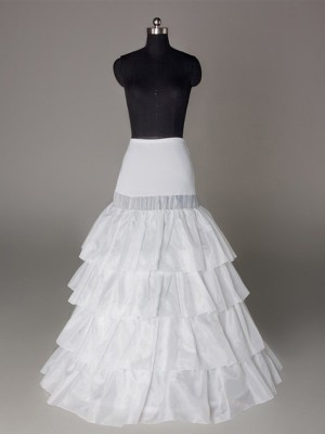 Fashion Nylon A-Line 4 Tier Floor Length Slip Style/Wedding Petticoats