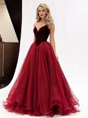 Stylish Refresh Ball Gown Sweetheart Tulle Floor-Length Dresses