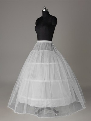Fashion Tulle Netting Ball-Gown 2 Tier Floor Length Slip Style/Wedding Petticoats