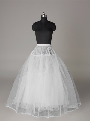 Fashion Tulle Netting Ball-Gown 3 Tier Floor Length Slip Style/Wedding Petticoats