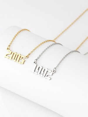 Chic Titanium With Numbers Hot Sale Necklaces