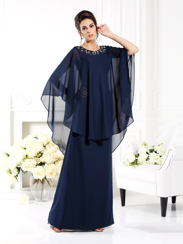 Limitless Looks Princess Style Scoop Long Chiffon Mother of the Bride Dresses