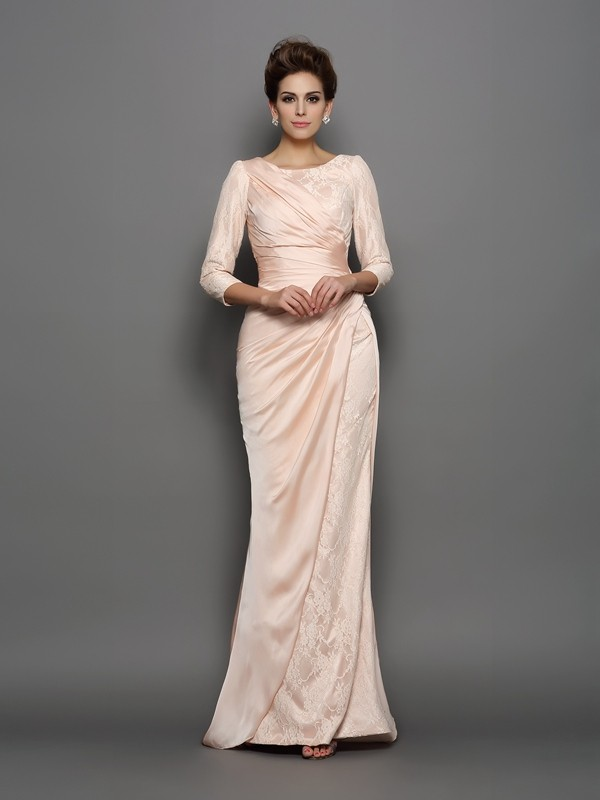 Vibrant Stylist Mermaid Style Bateau Lace Long Chiffon Mother of the Bride Dresses