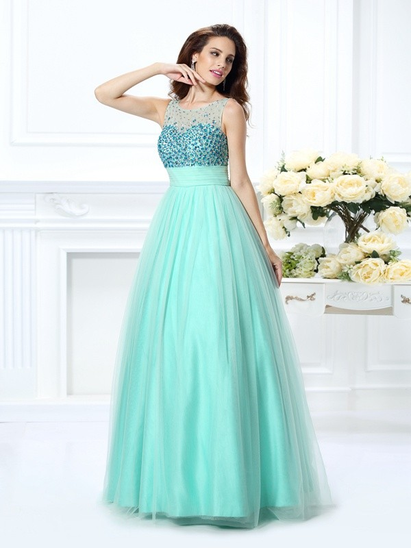 Touch of Texture Ball Gown Bateau Beading Long Chiffon Quinceanera Dresses