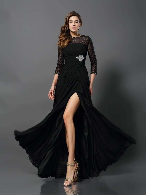 Chic Chic London Princess Style Bateau Long Lace Dresses