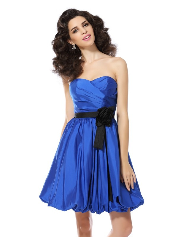 Just My Style Princess Style Sweetheart Hand-Made Flower Short Taffeta Cocktail Dresses