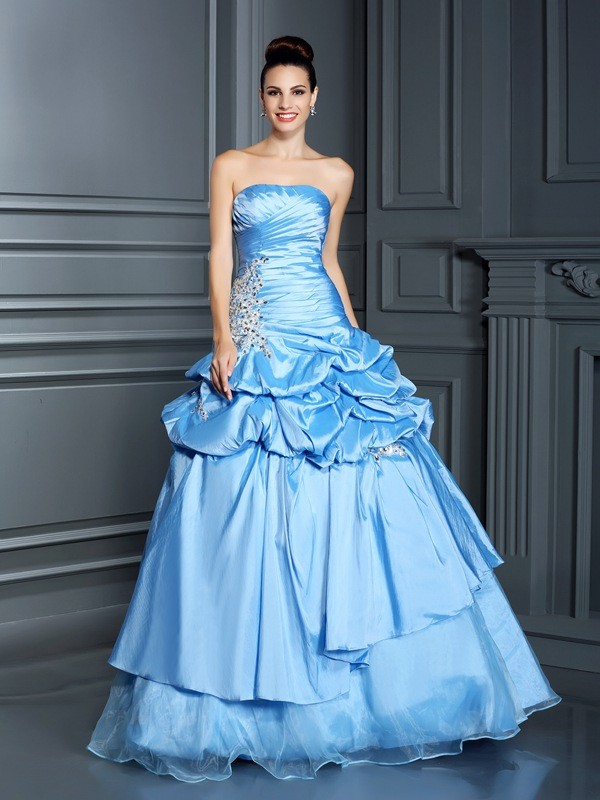 Lively Identity Ball Gown Sweetheart Ruffles Long Organza Quinceanera Dresses