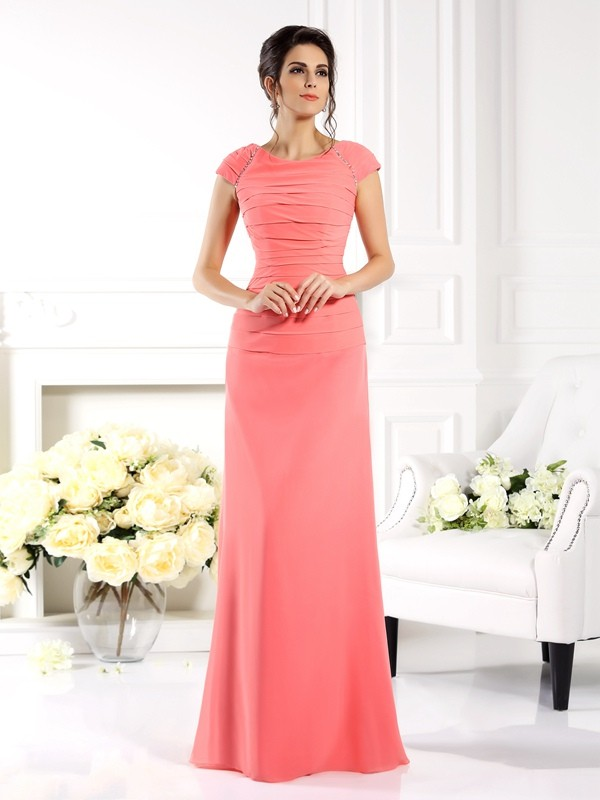 Fresh Picks Princess Style Bateau Long Chiffon Mother of the Bride Dresses