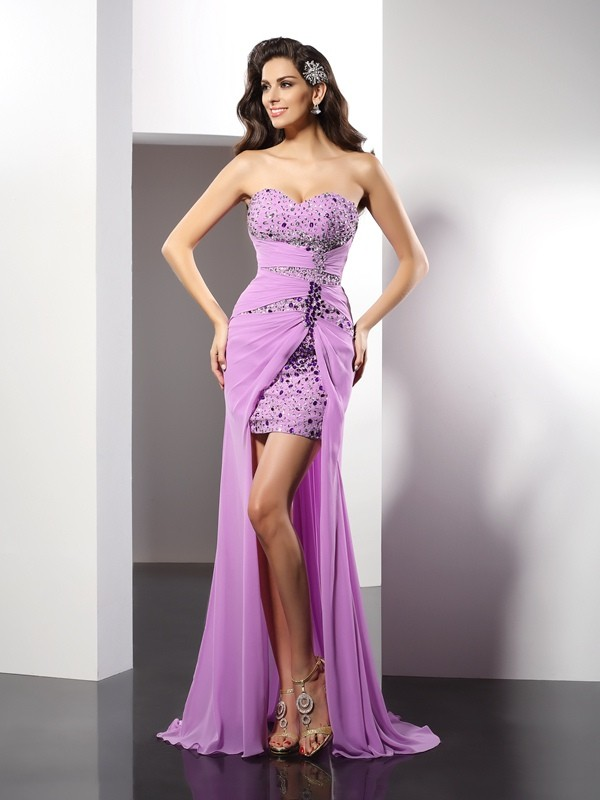 Memorable Magic Sheath Style Sweetheart Beading Long Silk like Satin Dresses