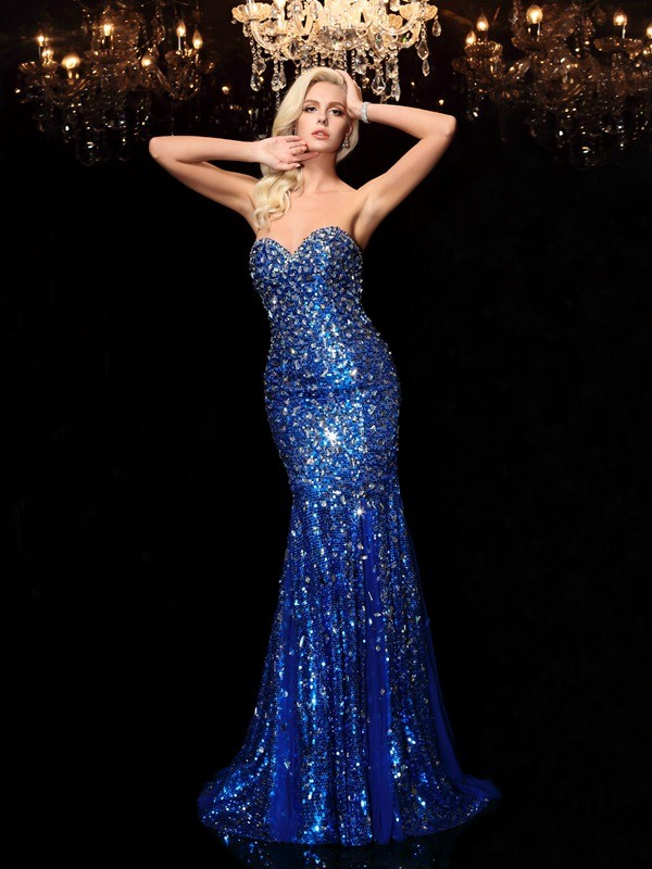 Stylish Refresh Mermaid Style Sweetheart Sequin Long Sequins Dresses