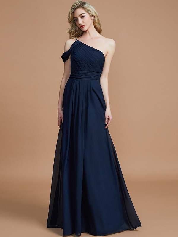 Chic Chic London Princess Style One-Shoulder Floor-Length Chiffon Bridesmaid Dresses