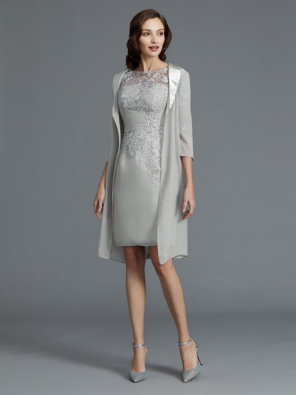 Styled to Smile Sheath Style Scoop Chiffon Short/Mini Mother of the Bride Dresses