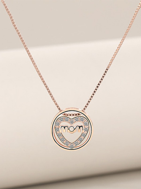 Trending S925 Silver With Zircon Necklaces For Mother