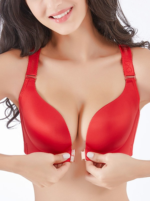 Charming Spandex Lace Front Closure Bras