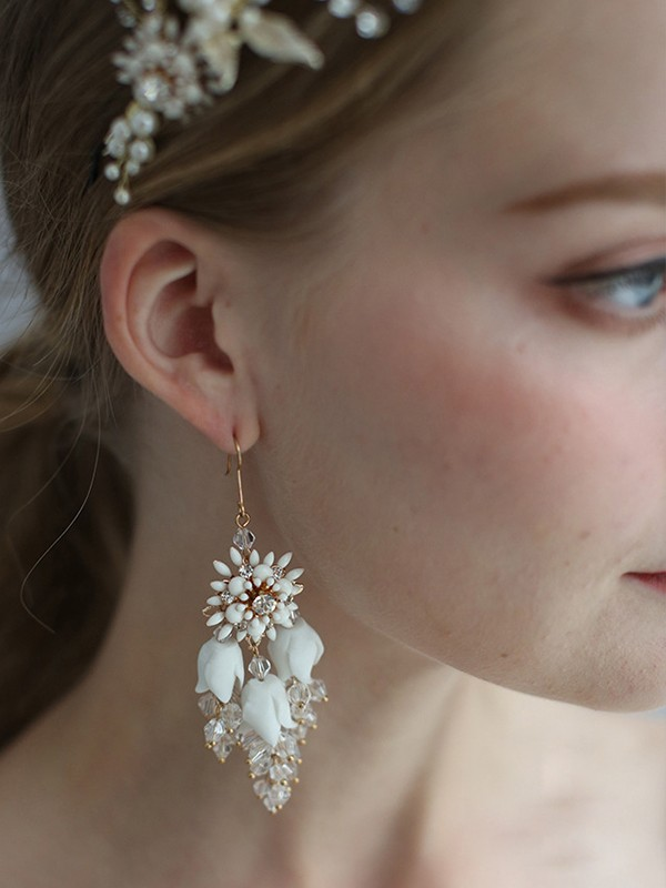 Pretty Alloy With Flower Hot Sale Earrings