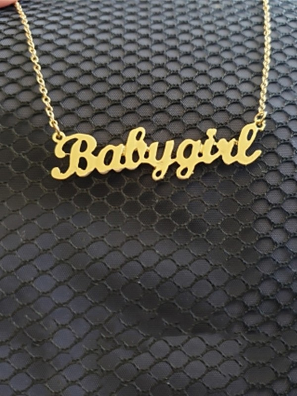 Pretty Titanium With Letters Necklaces For Women