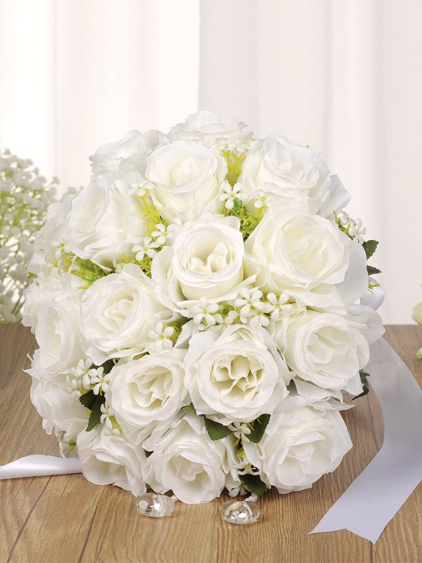 Charming Round Artificial Flower Bridal Bouquets