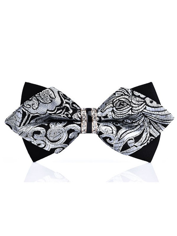 Modern Floral Polyester Bow Tie
