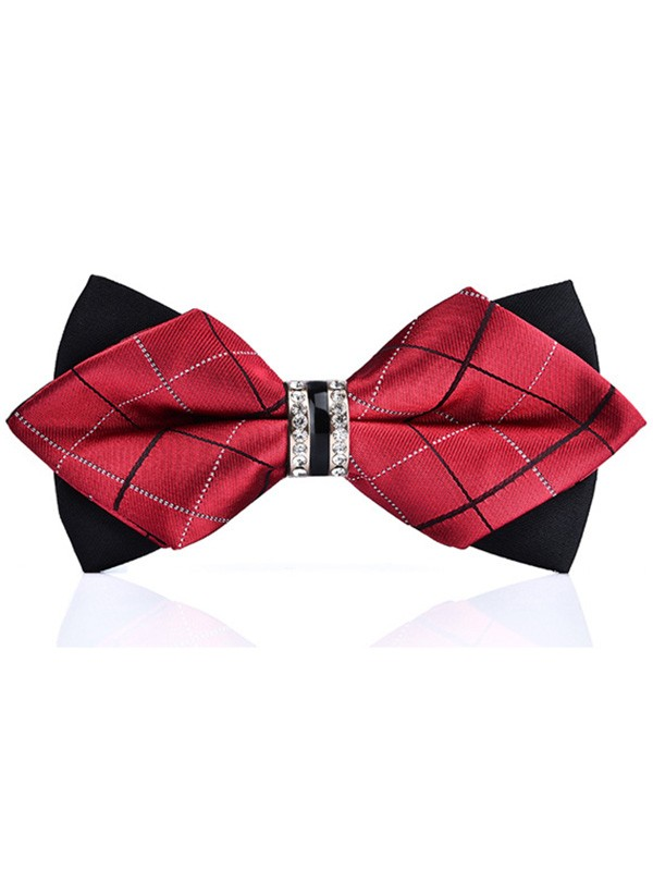 Classic Plaid Polyester Bow Tie