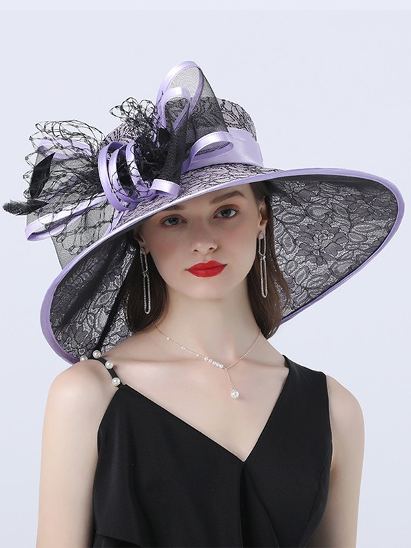 Ladies' Charming Satin With Bowknot Beach/Sun Hats/Kentucky Derby Hats/Tea Party Hats