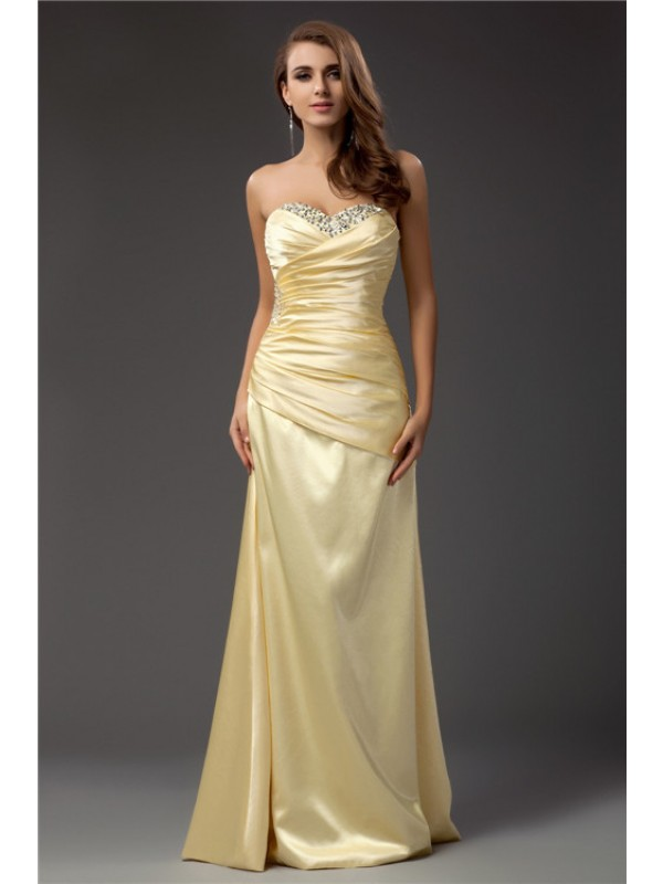 Treasured Reveries Sheath Style Sweetheart Long Taffeta Dresses