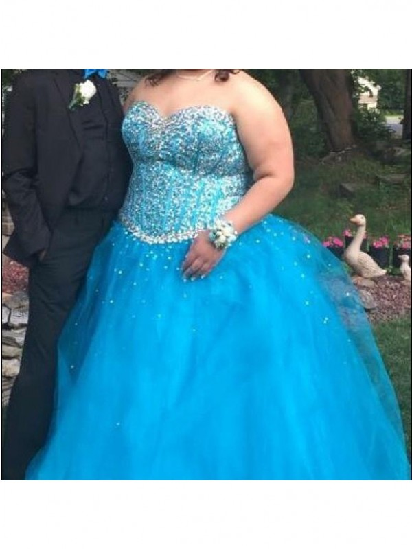 Vibrant Stylist Princess Style Sweetheart With Beading Floor-Length Organza Plus Size Dresses