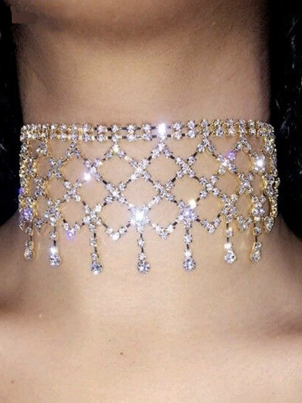 Attractive Alloy With Rhinestone Chokers For Ladies