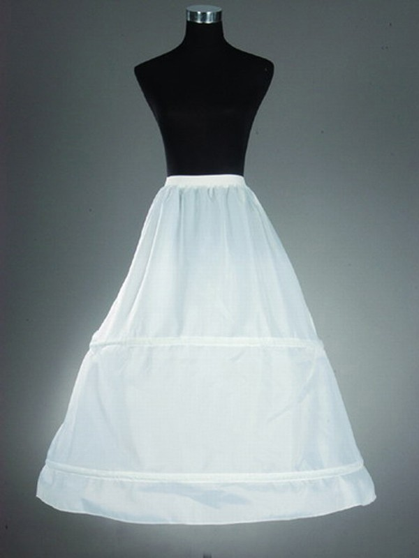 Fashion Nylon A-Line 1 Tier Floor Length Slip Style/Wedding Petticoats