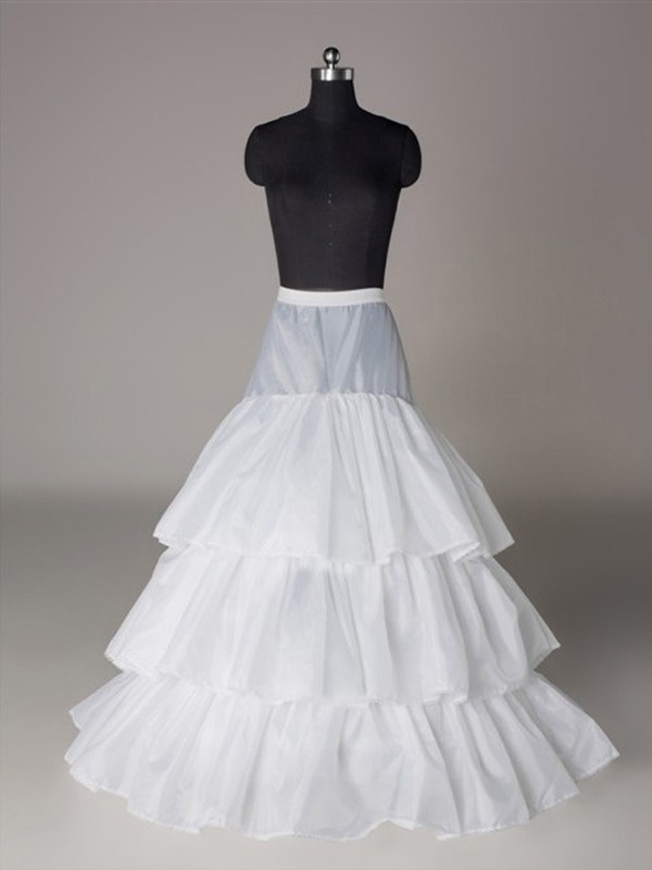 Fashion Nylon A-Line 3 Tier Floor Length Slip Style/Wedding Petticoats