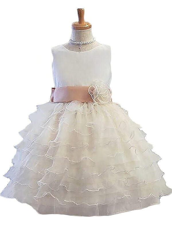 Time to Shine Princess Style Jewel Hand-Made Flower Tulle Short/Mini Flower Girl Dresses