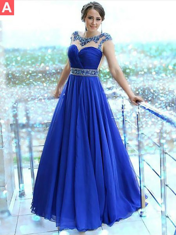 Comfortably Chic Princess Style Bateau Floor-Length With Beading Chiffon Dresses