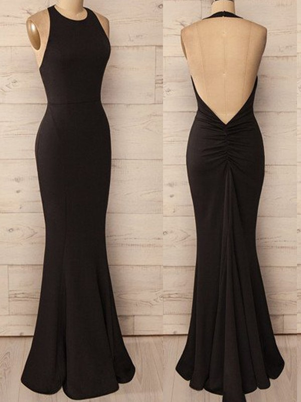 Befits Your Brilliance Mermaid Style Halter Floor-Length Spandex Dresses