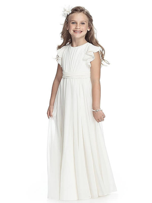 Glitz the Spot Princess Style Scoop Chiffon Floor-Length Flower Girl Dresses