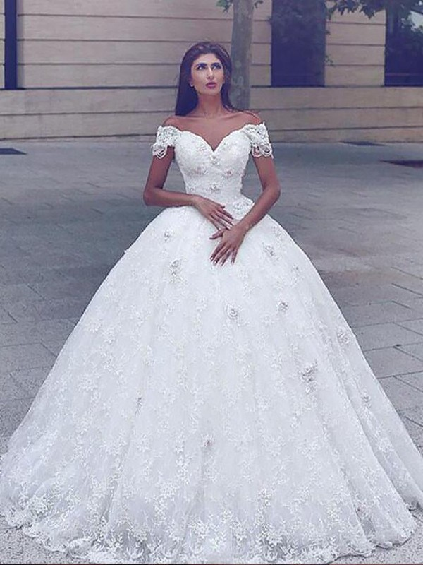 Befits Your Brilliance Mermaid Style Lace Floor-Length Straps Wedding Dresses