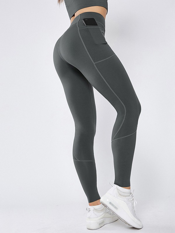 Nice Nylon Pocket Yoga Pants&Leggings