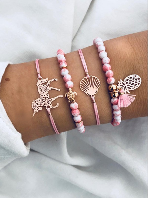 Occident Simple Alloy With Pineapple Hot Sale Bracelets(4 Pieces)