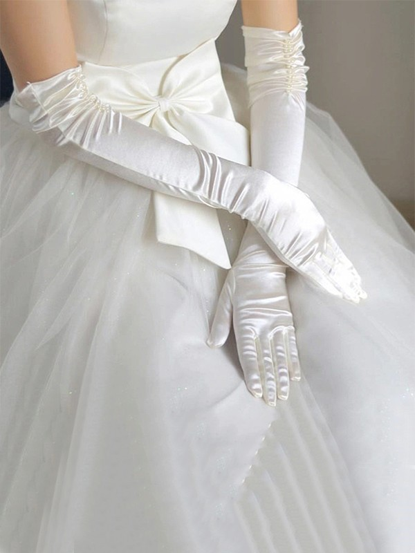 Simple Cloth Wedding Gloves