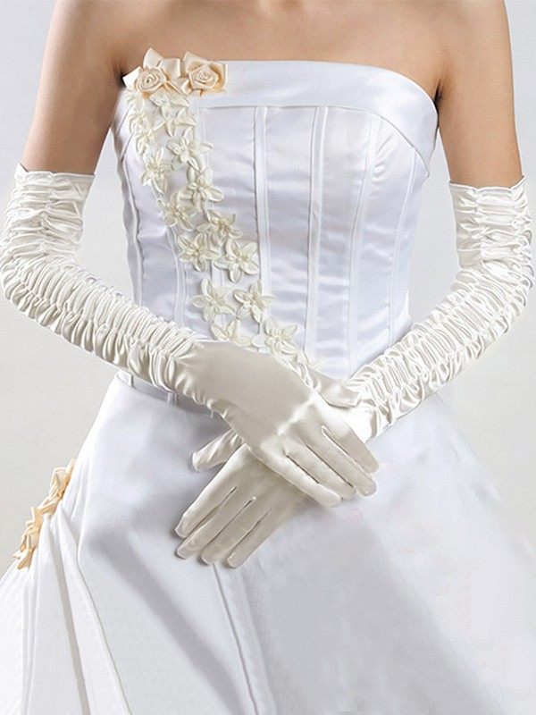 Unique Cloth Wedding Gloves