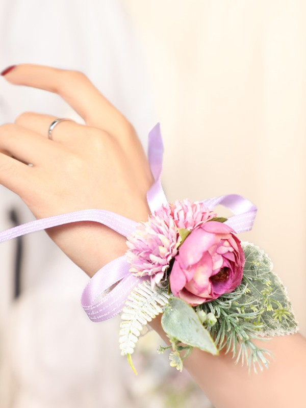 Blooming Silk Flower Wrist Corsage