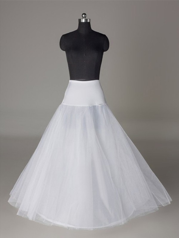 Fashion Tulle Netting A-Line 2 Tier Floor Length Slip Style/Wedding Petticoats