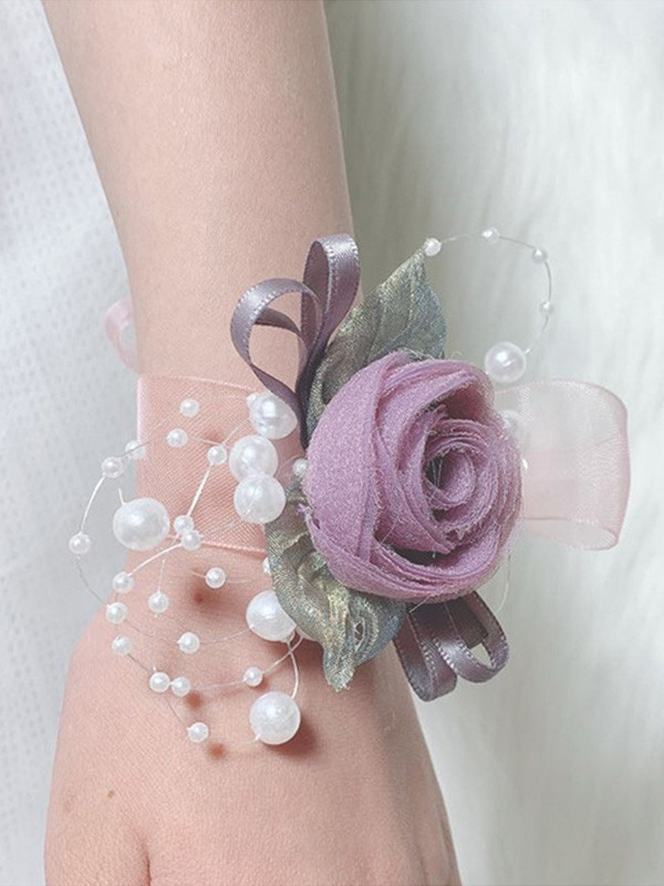 Fancy Imitation Pearl Wrist Corsage