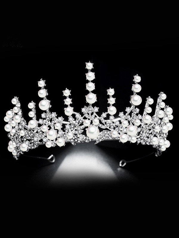 Bridal Beautiful Alloy With Rhinestone/Imitation Pearl Headpieces