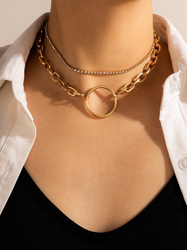 Brilliant Alloy With Rhinestone Necklaces For Ladies