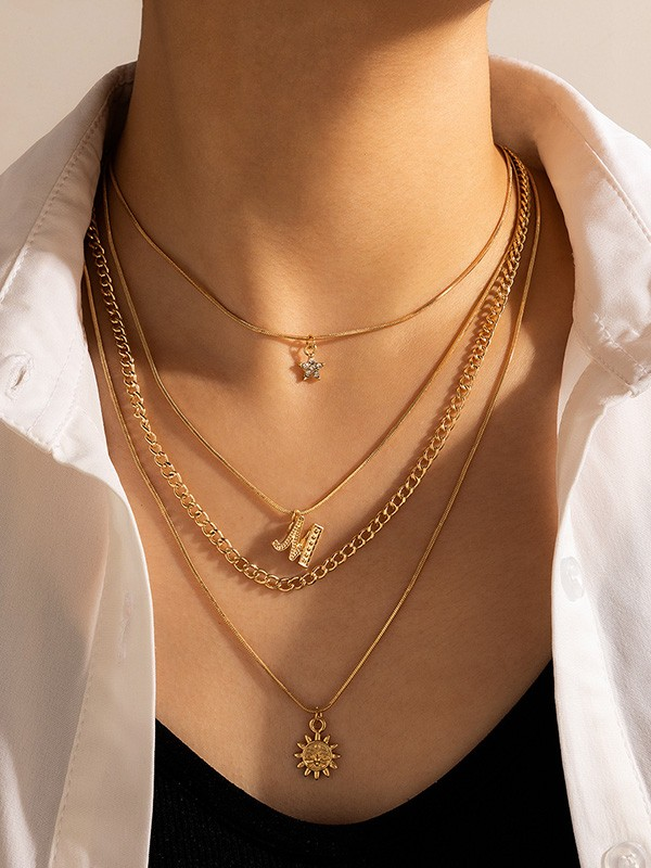 Fineness With Rhinestone Alloy Necklaces