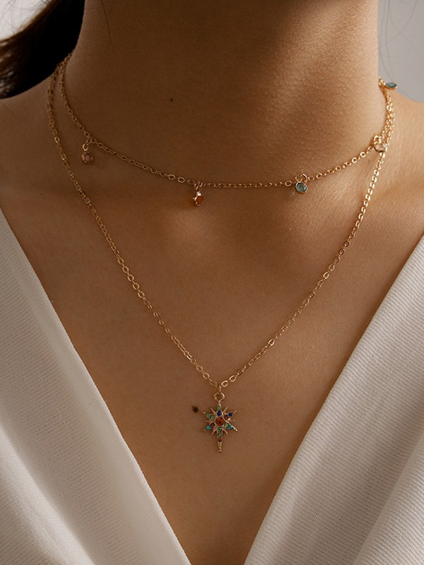 Trendy Alloy With Rhinestone Necklaces For Ladies