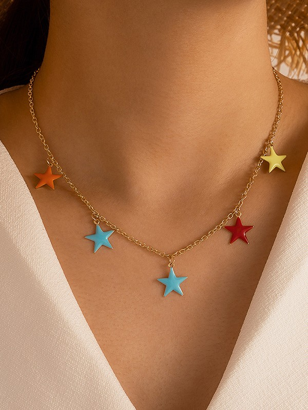 Stylish Alloy With Star Hot Sale Necklaces