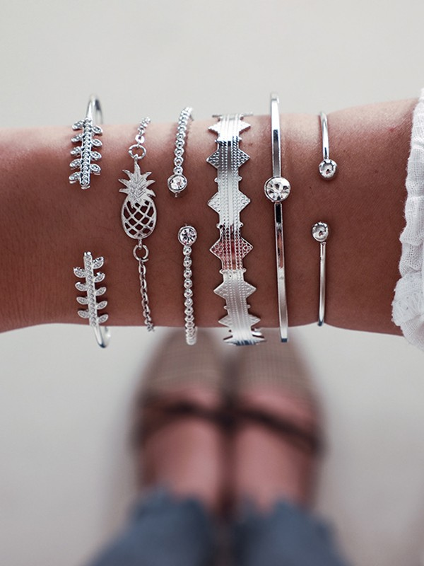 Cute Alloy With Pineapple Bracelets(6 Pieces)