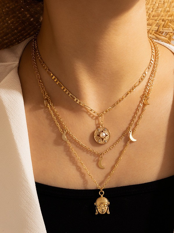 Special With Pearl Alloy Necklaces